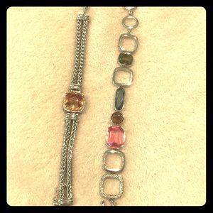 Jewelry - David Yurman dupe and Swarovski bracelet